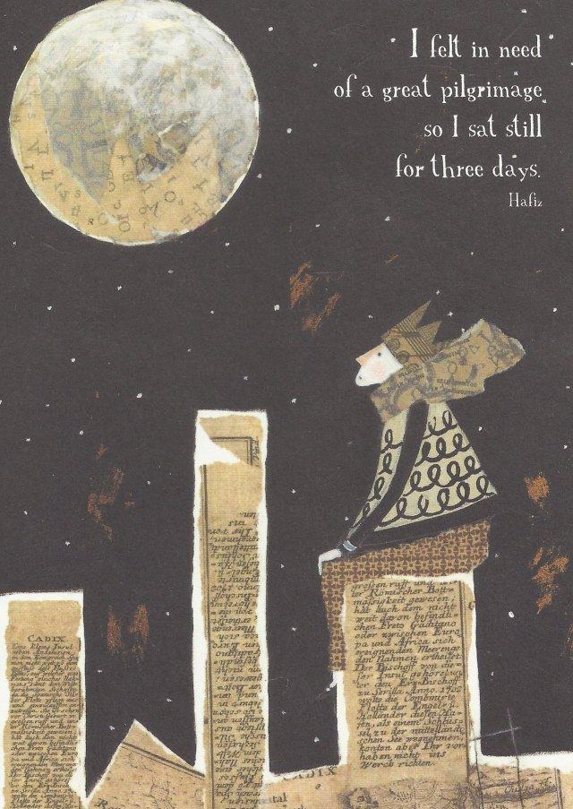 Hafiz rendering - Daniel Ladinsky scaredbee.com cards by Pamela Zagarenski